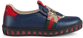 Gucci Toddler leather sneaker with tiger