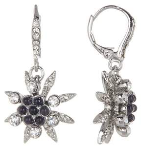 Jenny Packham Glass Crystal Embellished with Cluster Bead Drop Earrings