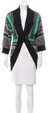 Dagmar Striped Button-Up Cardigan