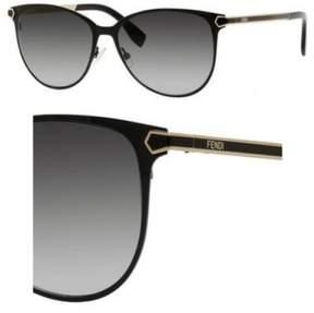 Fendi Sunglasses 22 /S 07WH Shiny Black / 9O dark gray gradient lens