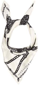 Alexander McQueen Spider and jewel-print silk scarf