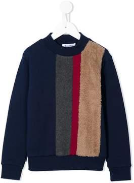 Familiar striped crew neck sweater