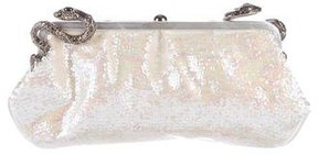 Roberto Cavalli Sequined Satin Clutch