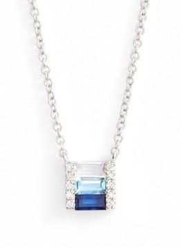 Ef Collection Women's Fade Brick Diamond & Stone Pendant Necklace