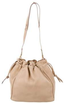 Mark Cross Leather Drawstring Bucket Bag
