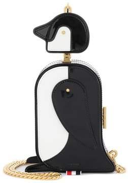 Thom Browne Patent leather penguin shoulder bag