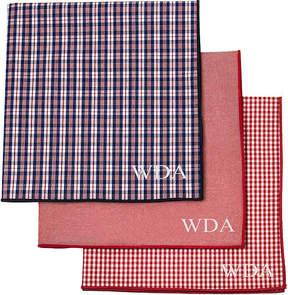 Asstd National Brand Personalized Gingham Handkerchief Set