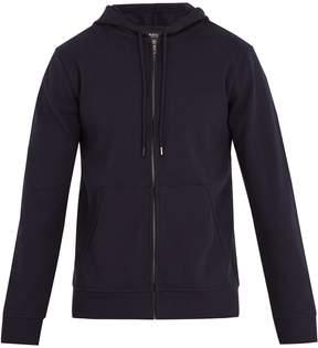 A.P.C. Roadie zip-up hooded cotton sweatshirt