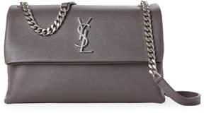 Saint Laurent Grey West Hollywood Leather Shoulder Bag