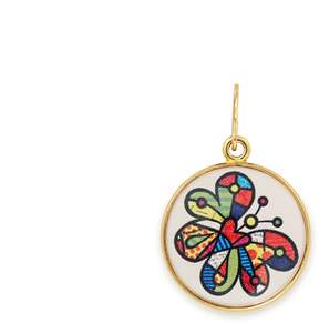 Alex and Ani Butterfly Art Infusion Necklace Charm | Romero Britto