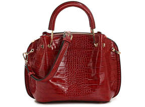 Sondra Roberts Embossed Satchel - Women's