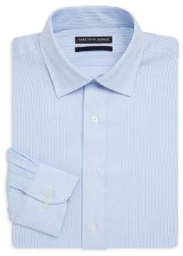 Saks Fifth Avenue BLACK Pinstripe Slim-Fit Cotton Dress Shirt