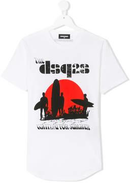 DSQUARED2 Teen surf print T-shirt