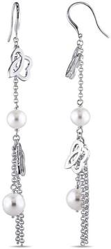 Bella Pearl Julianna B Pnina Sterling Silver Pearl Hook Back Earrings