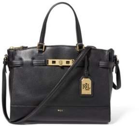 Ralph Lauren Leather Darwin Satchel Black One Size