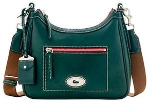 Dooney & Bourke Florentine Toscana Crossbody Hobo Shoulder Bag. - PINE GREEN - STYLE