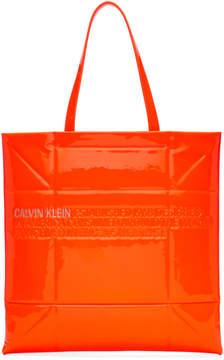 Calvin Klein Orange Small Geometric Tote