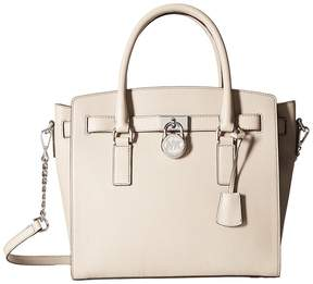 MICHAEL Michael Kors Hamilton Large East/West Satchel Satchel Handbags - CEMENT - STYLE