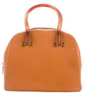 Nina Ricci Textured Leather Handle Bag