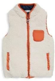 Splendid Baby's V-Neck Faux Shearling Vest