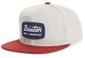 Brixton Men's 'Jolt' Snapback Cap - Grey