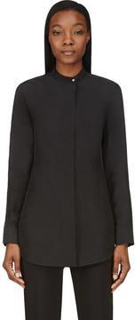 Calvin Klein Collection Black Washed Silk Umiko Blouse