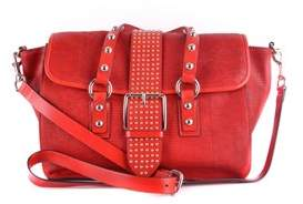 RED Valentino Women's Red Leather Shoulder Bag.
