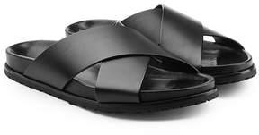Saint Laurent Crossover Leather Sandals