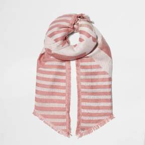 River Island Womens Pink mixed stripe jacquard knit scarf