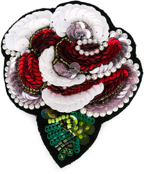 Simonetta sequin rose brooch