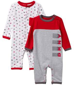 DKNY Multi Coveralls - Pack of 2 (Baby Boys 0-9M)