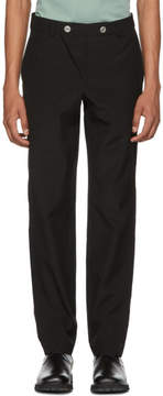 MACKINTOSH 0002 Black Double Front Button Trousers