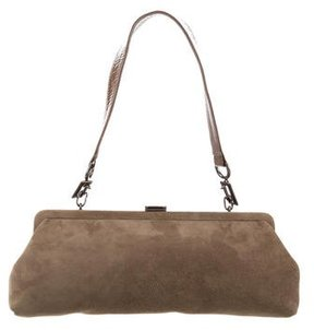 Stuart Weitzman Vegan Suede Shoulder Bag