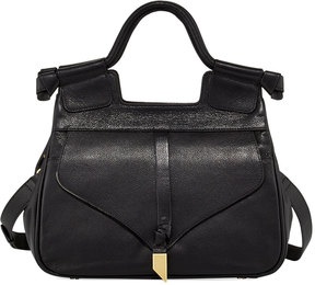 Foley + Corinna Brittany Leather Satchel Bag, Black