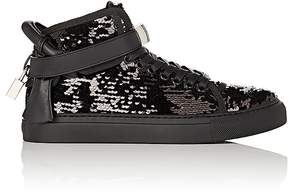 Buscemi Women's 100MM Sequin & Leather Sneakers