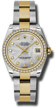 Rolex Datejust Lady 31 Mother of Pearl Dial Stainless Steel and 18K Yellow Gold Oyster Bracelet Automatic Watch