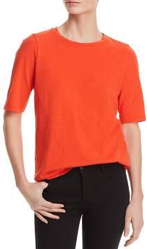Eileen Fisher Organic Cotton Slub-Knit Tee