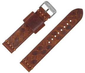 Dakota 20mm Handmade, Italian Leather, Braided Brown