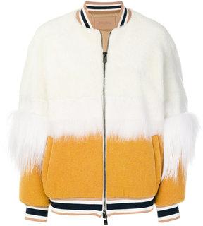 Drome colour block bomber jacket