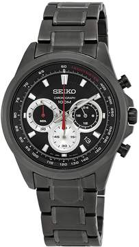 Seiko Chronograph Black Dial Gunmetal Ion-plated Men's Watch