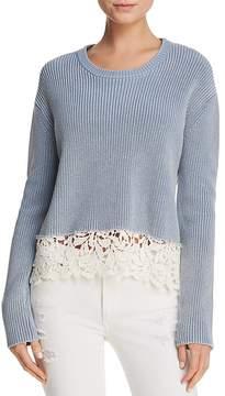 Generation Love Felix Lace-Hem Sweater