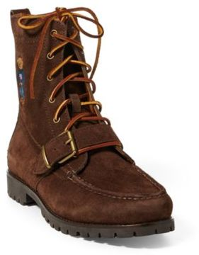 Ralph Lauren Ranger Polo Bear Suede Boot Brown 10