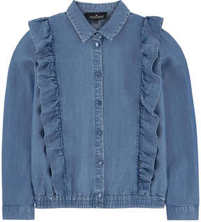 Little Remix Jean shirt with flounces