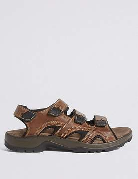 Marks and Spencer Leather Three Strap Riptape Sandals