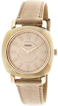 Fossil Women's Idealist ES4282 Tan Leather Japanese Quartz Fashion Watch
