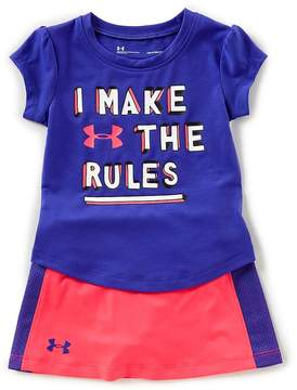 Under Armour Baby Girls 12-24 Months I Make The Rules Tee & Skort Set