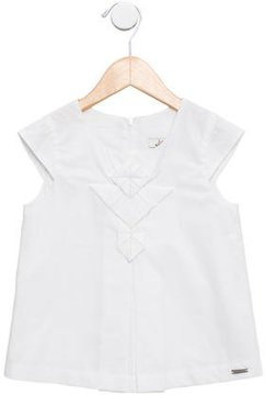 Junior Gaultier Girls' Cap Sleeve Shift Dress