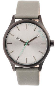 Simplify Black & Gray The 2400 Leather-Strap Watch