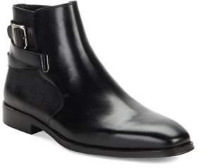 Karl Lagerfeld Paris Leather Zipped Booties