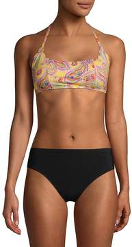 Pilyq Women's Reversible Paisley-Print Bikini Top